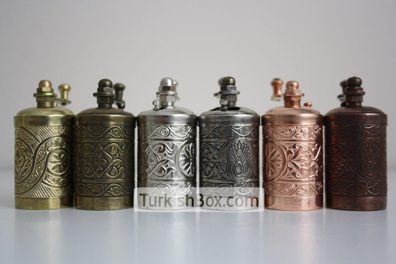 Turkish Handmade Brass Salt Pepper Spice Grinder Mill Set Iso 9001 Certified 4 Antique Brass Home Kitchen Kitchen Dining