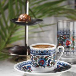 Turkish Coffee Cup Set Kutahya Porcelain Topkapi