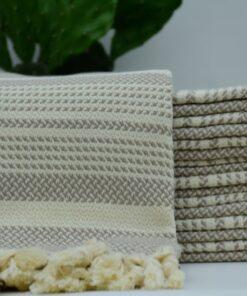 Bed bath and beyond towels Angora Peshtemal Beige (1)