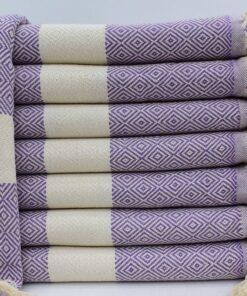 Buy Turkish Bath Towels Istanbul Peshtemal Purple (7)