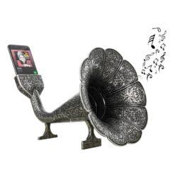 Gramophone Speaker Dark Silver