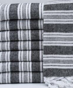 Personelized Beach Towels New York Peshtemal Black (4)
