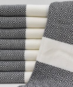 Turkish Bath Towels Istanbul Peshtemal Black (2)