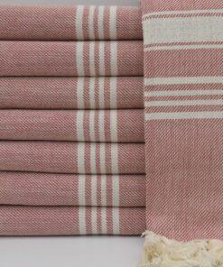 Turkish Bath Towels Sydney Peshtemal Burgundy (6)