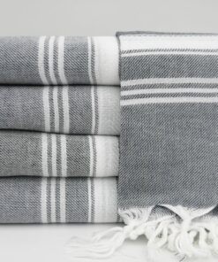 Turkish Cotton Bath Towels Sydney Peshtemal Navy Blue (3)