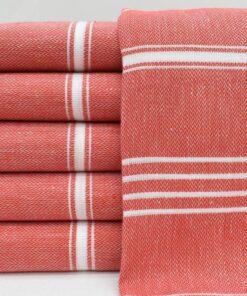 Turkish Cotton Towels Melissa Peshtemal Red (1)