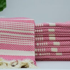 Turkish Towel Company Angora Peshtemal Pink (1)