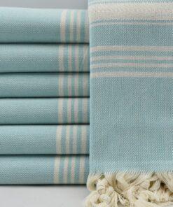 Turkish Towels Amazon Sydney Peshtemal Light Blue (2)