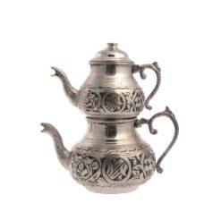 Copper Turkish Tea Pot Dark Silver Small