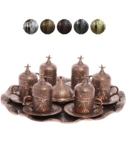 Dervish Collection Turkish Coffee Set for 6