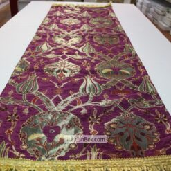 Purple Turkish Tulip Patterned Floral Table Runner mothers day gifts