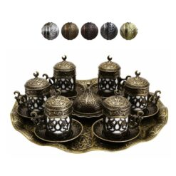 Queen Collection Turkish Coffee Set for 6