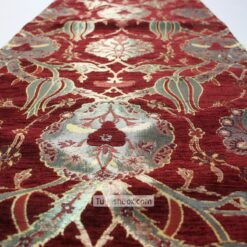 Red Turkish Tulip Patterned Floral Table Runner gifts for mom