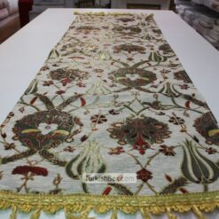 White Turkish Tulip Patterned Floral Table Runner mothers day gifts