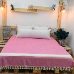 Boho Throw Blankets Pink (4)
