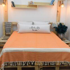 Throw Blanket King Size Orange (7)