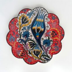 Turkish Ceramic Trivets Red Tulip