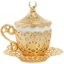 Poppy Shiny Gold Cappucino Cup